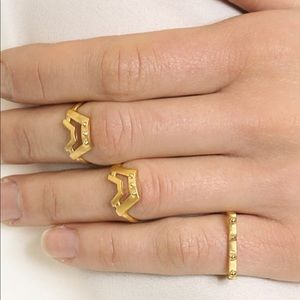 Maria Black stack ring set of 3 gold 7.5-8